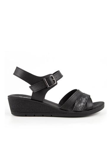 Muya Leona Anatomik Kadın Sandalet Siyah